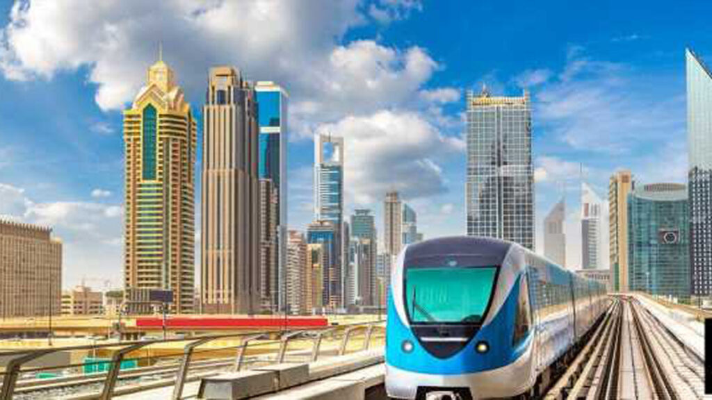 Dubai Metro map new