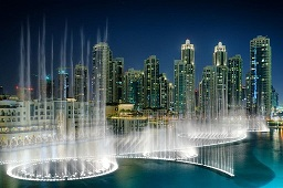 dubai mall fountain show