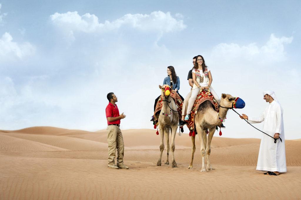Camel Trekking in dubai desert safari