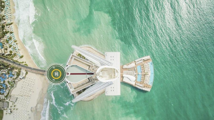 World's most famous' helipad on Burj al Arab