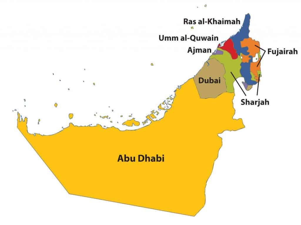 uae location and geography