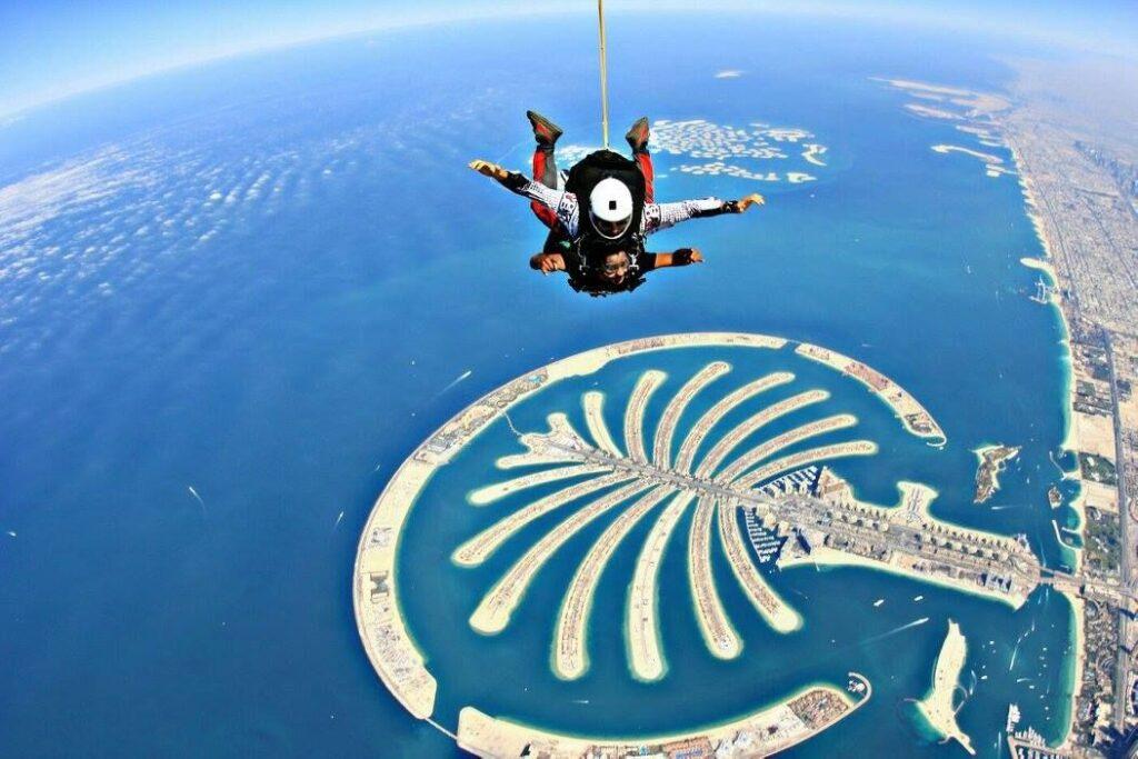 skydive dubai Palm Drop Zone